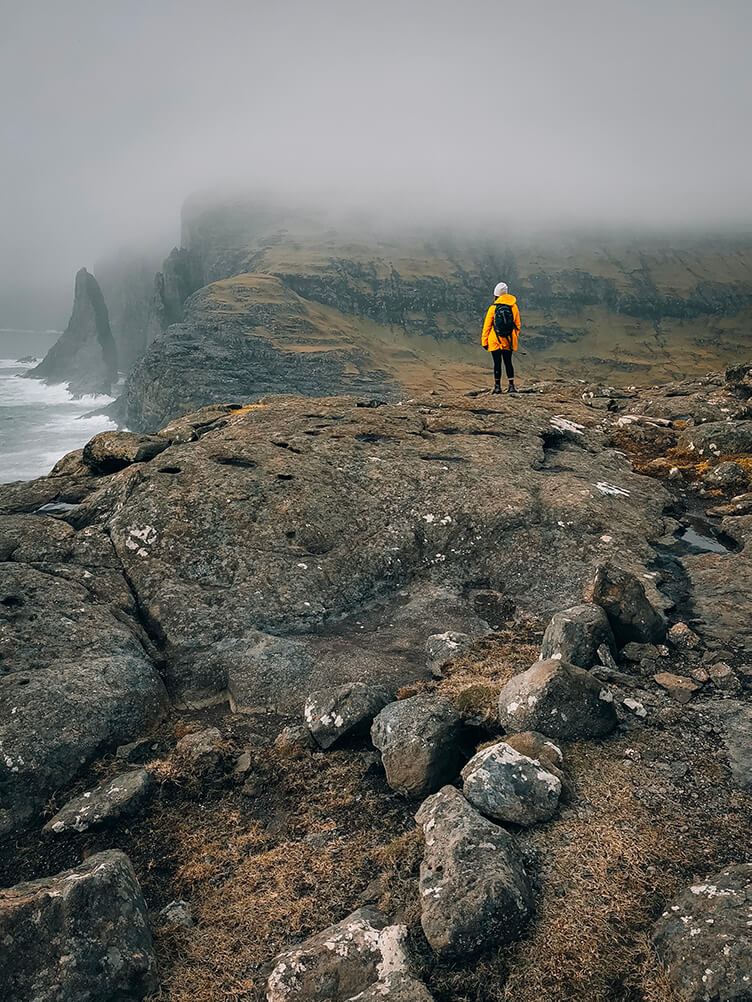 Yellow Coat in the Faroe Islands