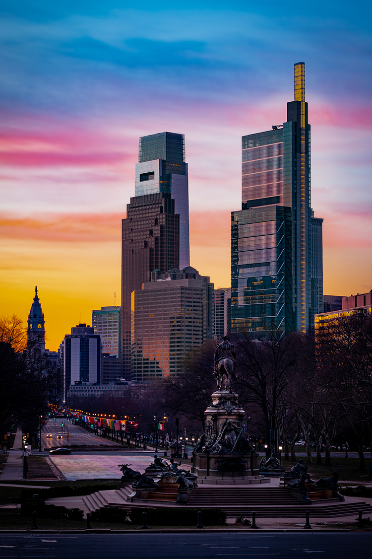 Philadelphia at Sunrise
